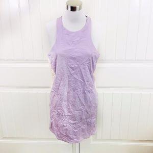Nasty Gal Lavender Vegan Leather Racerback Dress L